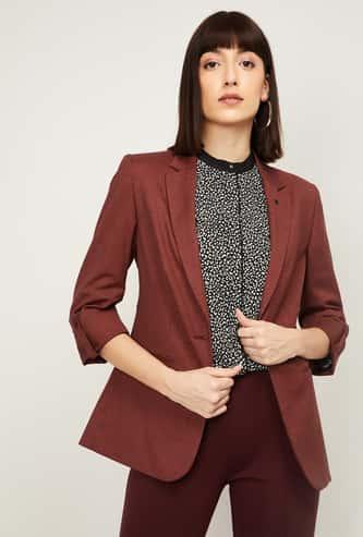 VAN HEUSEN Women Solid Blazer