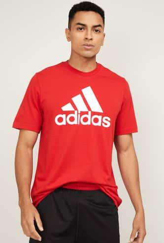 ADIDAS Men Printed Crew Neck T-shirt