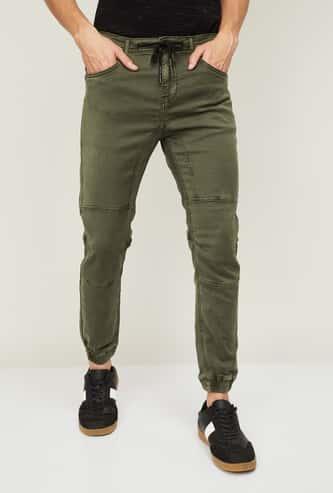 FORCA Men Solid Joggers Jeans