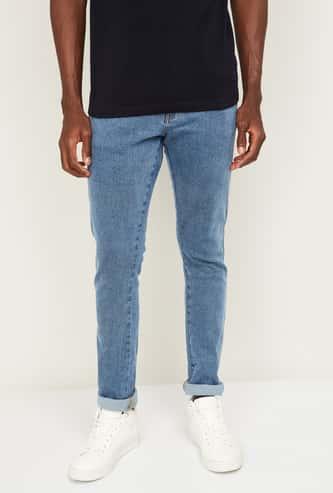 WRANGLER Men Stonewashed Skinny Fit Jeans
