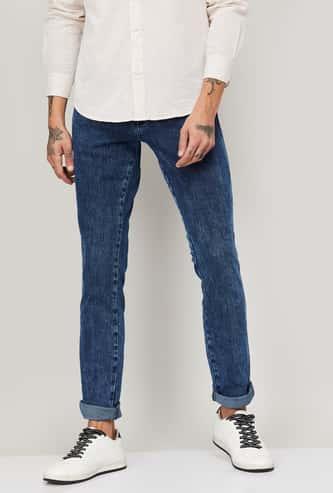 WRANGLER Men Washed Slim Tapered Fit Jeans