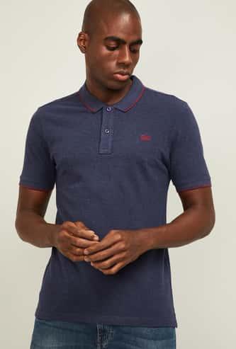 WRANGLER Men Solid Regular Fit Polo T-shirt