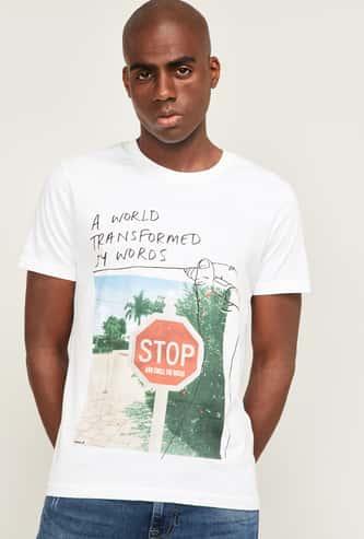 WRANGLER Men Printed Crew Neck T-shirt