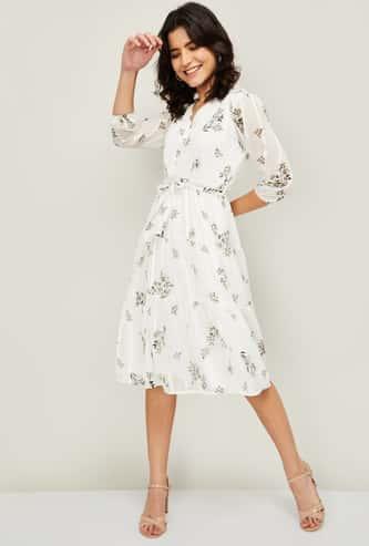 CODE Women Printed A-line Dress