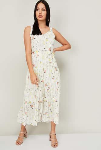 CODE Women Printed Midi Dress