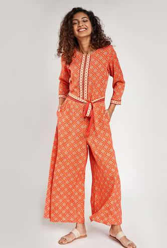 GLOBAL DESI Women Printed Jumpsuit