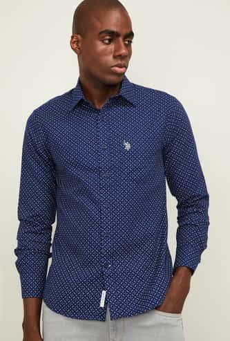 U.S. POLO ASSN. Men Printed Regular Fit Casual Shirt