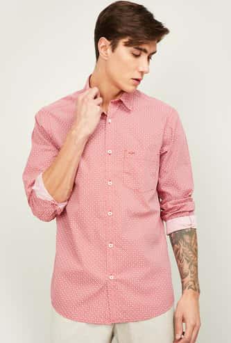 COLORPLUS Men Printed Full Sleeves Slim Fit Casual Shirt