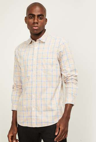 COLORPLUS Men Checked Full Sleeves Casual Shirt
