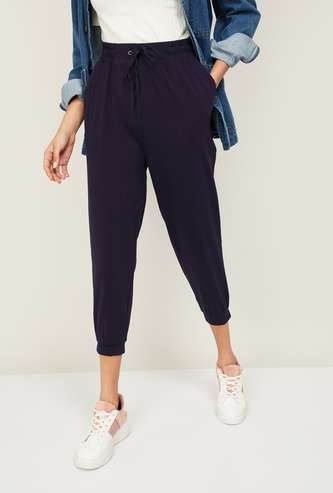 GINGER Women Solid Cropped Length Trousers