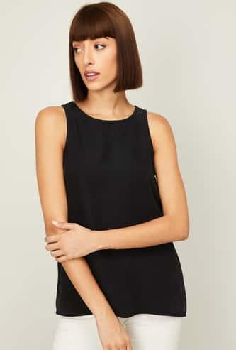 VERO MODA Women Solid Sleeveless Top