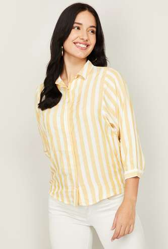 AND Women Striped Casual Shirt