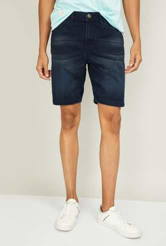 FORCA Men Solid Regular Fit Denim City Shorts