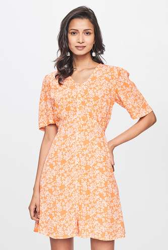 AND Women Floral Printed A-Line Dress