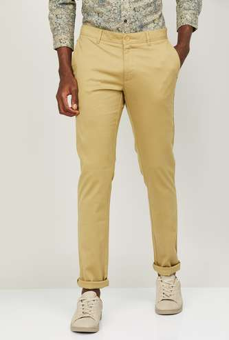 BLACKBERRYS CASUAL Men Solid Slim Straight Fit Casual Trousers