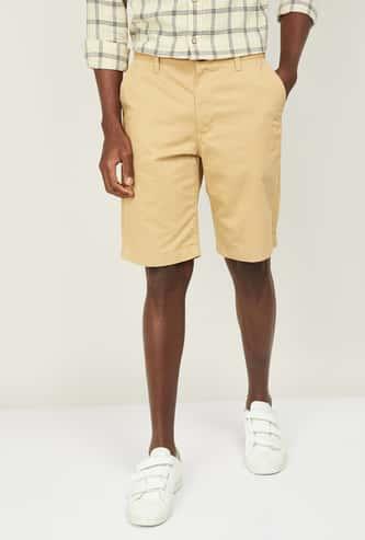 INDIAN TERRAIN Men Solid Regular Fit Shorts