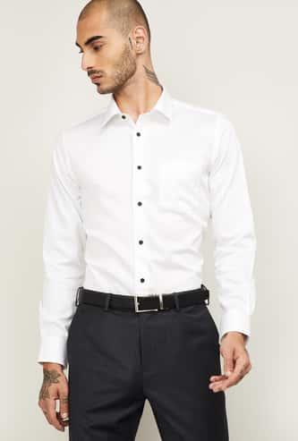BLACKBERRYS Men Solid Slim Fit Formal Shirt