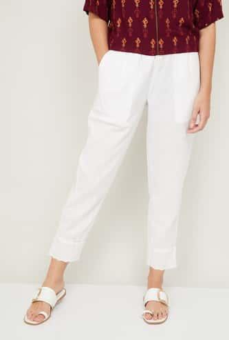 MELANGE Women Embroidered Straight Pants