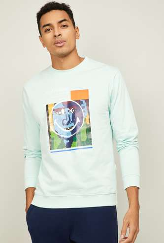 SMILEY WORLD  Men Printed Sweatshirt