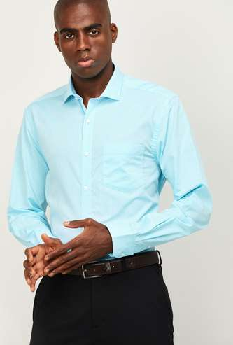 CODE Men Solid Regular Fit Formal Shirt
