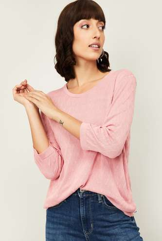 LEVI'S Women Solid Knitted Top