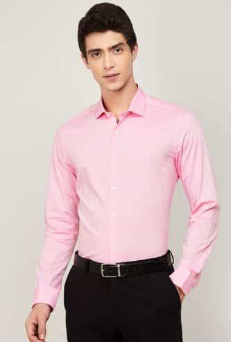 CODE Men Solid Slim Fit Formal Shirt