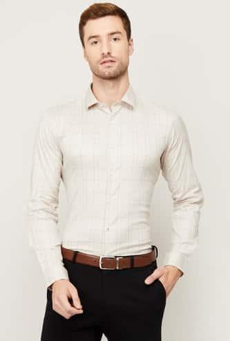 LOUIS PHILIPPE Men Checked Super Slim Fit Formal Shirt