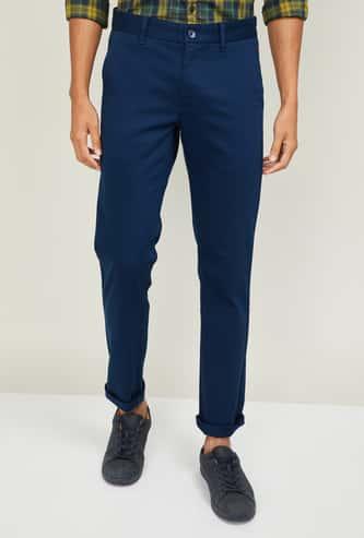 LP SPORT Men Solid Casual Trousers