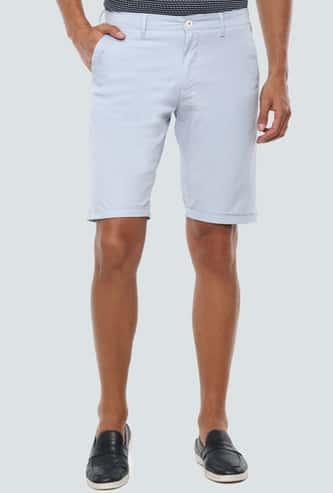 LP SPORT Men Solid Slim Fit Woven Shorts