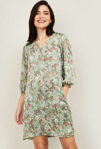 AND Women Floral Print Shift Dress