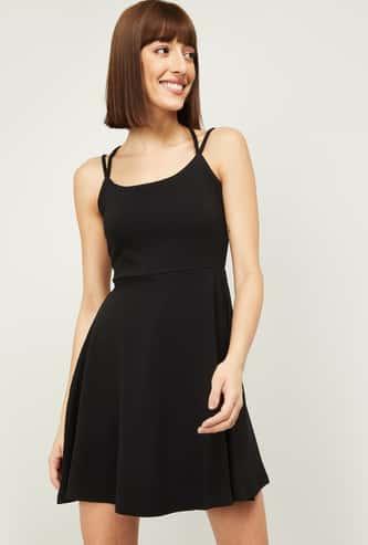 GINGER Women Solid A-Line Dress