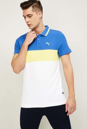 PUMA Men Colourblocked Regular Fit Training Polo T-shirt