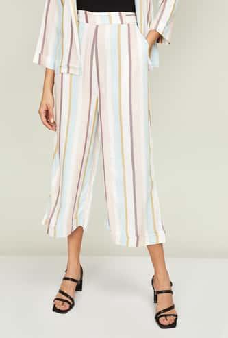 CODE Women Striped Culottes