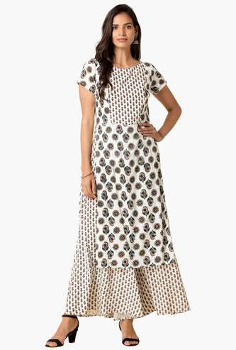 INDYA Women Printed Double Layered Jumpsuit