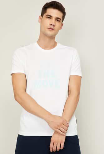 KAPPA Men Typographic Print Crew Neck T-shirt