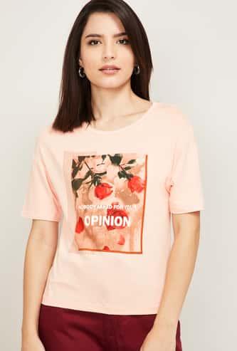 JEALOUS 21 Women Printed Round Neck T-shirt