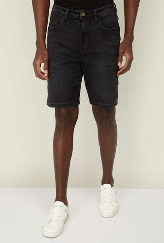 BOSSINI Men Solid Woven Shorts