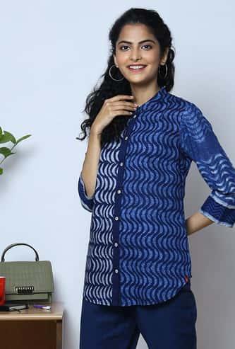 BIBA Women Printed Shirt Style Top