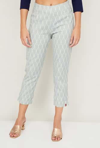 BIBA Women Printed Elasticated Straight Pants