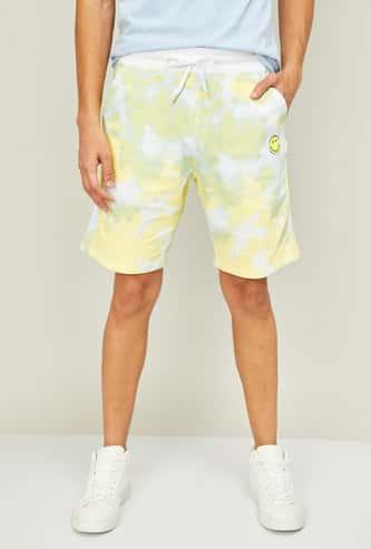 SMILEY Men Camouflage Print Elasticated Shorts