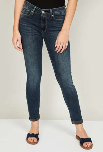 LEVI'S Women Washed Skinny Fit Jeans