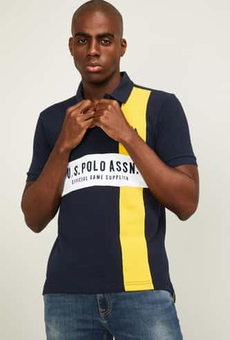 U.S. POLO ASSN. Men Printed Regular Fit Polo T-shirt