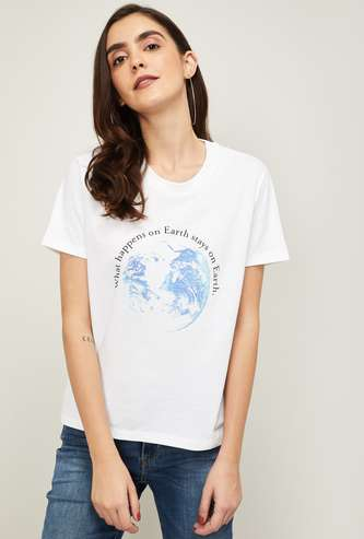LEVI'S Women Printed Round Neck T-shirt