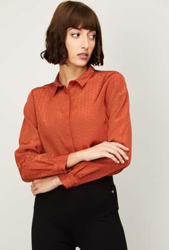 ALLEN SOLLY Women Printed Regular Fit Casual Shirt
