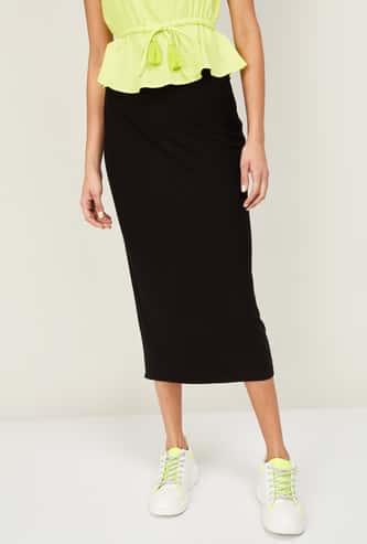 FAME FOREVER Women Textured Skirt