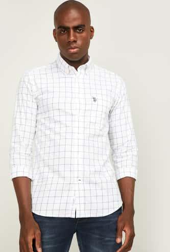 U.S. POLO ASSN. Men Checked Regular Fit Casual Shirt