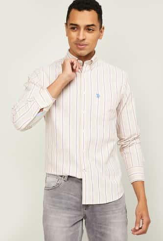 U.S. POLO ASSN. Men Striped Regular Fit Casual Shirt