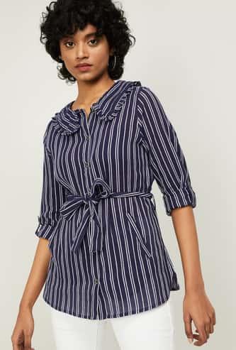 FAME FOREVER Women Striped Shirt