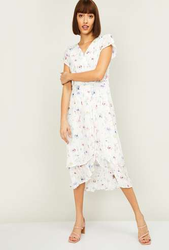 LATIN QUARTERS Women Printed Wrap Dress