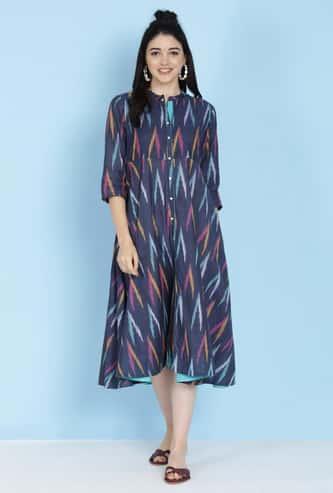 BIBA Women Printed A-Line Dress